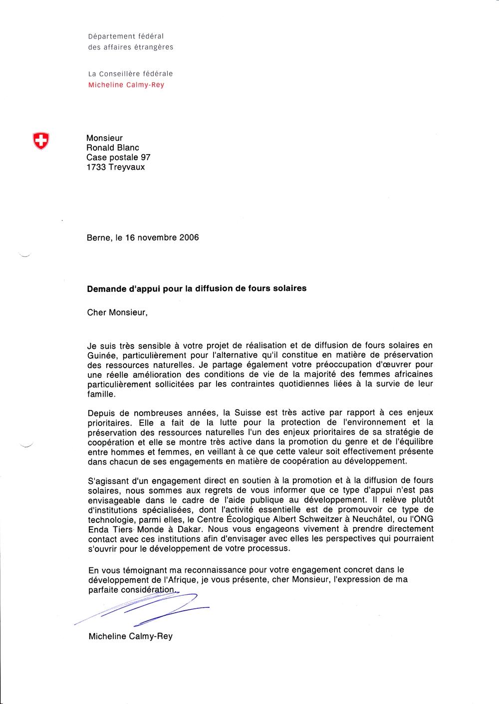 lettre pour demander une aide financiere